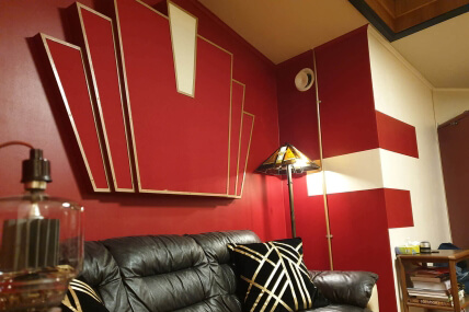 Art Deco absorber acoustic treatment